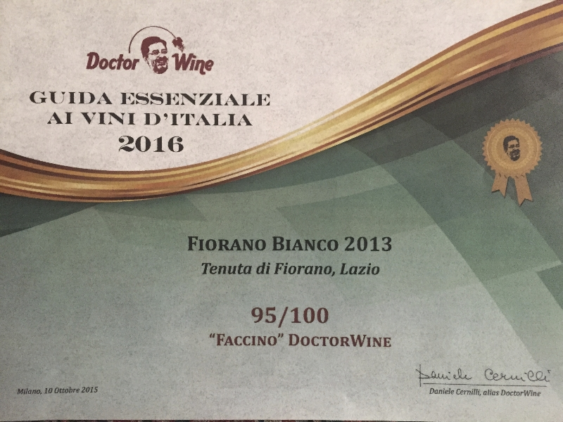 Tenuta di Fiorano Rassegna stampa 2015 - Premio Doctor Wine