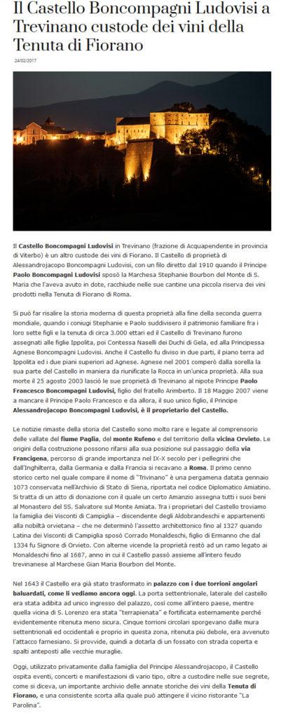 Fiorano rassegna Stampa 2017 - Vinotype