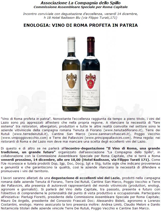 Tenuta di Fiorano, rassegna stampa 2012 - Eventi e Sagre