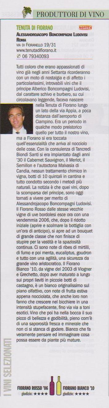 Tenuta di Fiorano Rassegna stampa 2013 - La Repubblica
