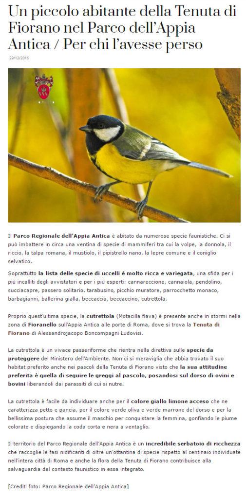 Tenuta di Fiorano, Rassegna stampa 2016 - Vinotype