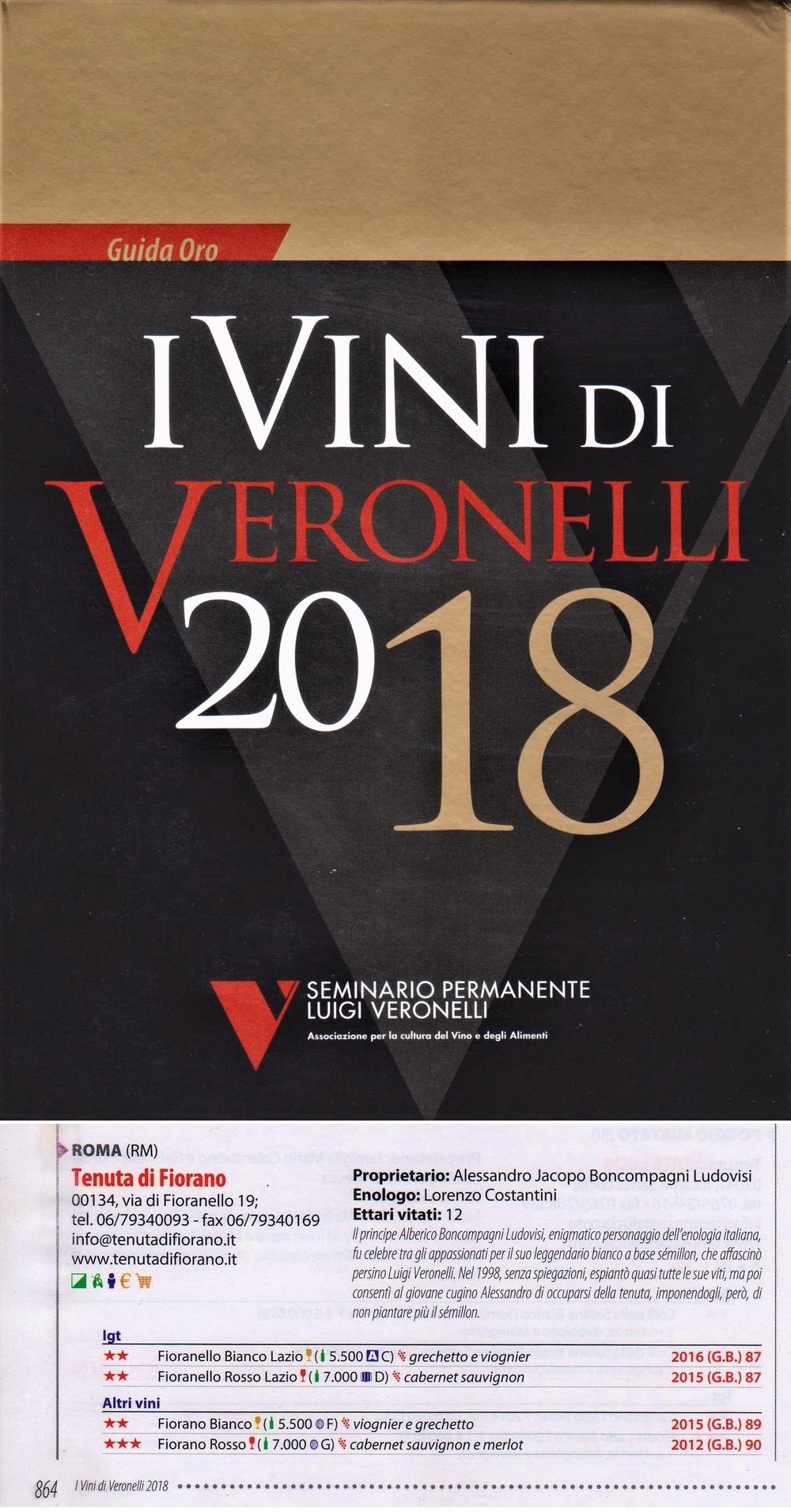 I Vini di Veronelli 2018 - Tenuta di Fiorano