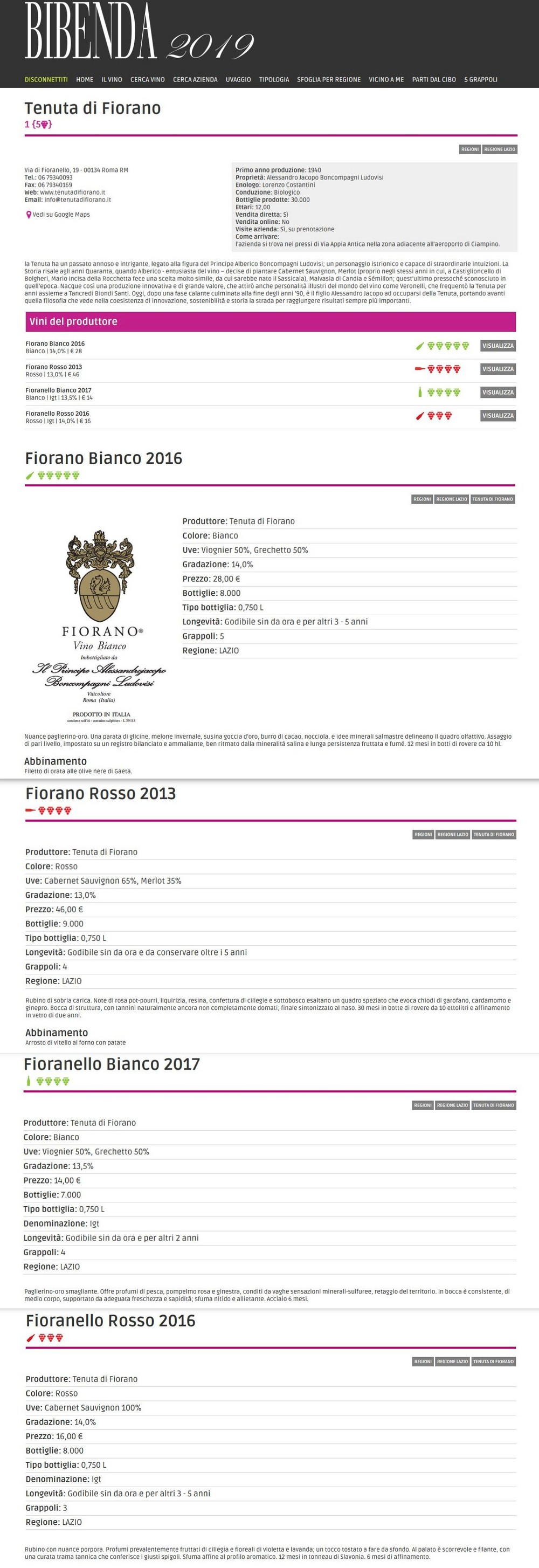 Bibenda 2019 - Guida Fondazione Italiana Sommelier