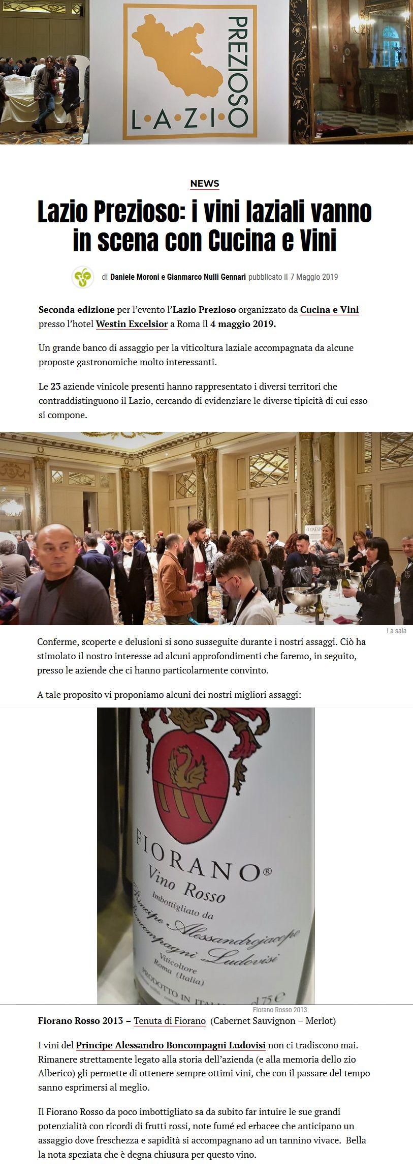 Lazio Prezioso: i vini laziali vanno in scena con Cucina e Vini