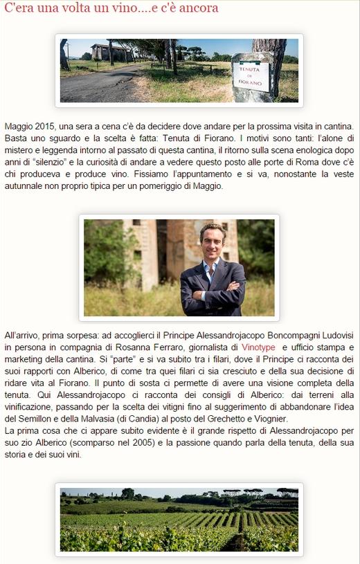 Tenuta di Fiorano Rassegna stampa 2015 - INCONTRIDIVITE