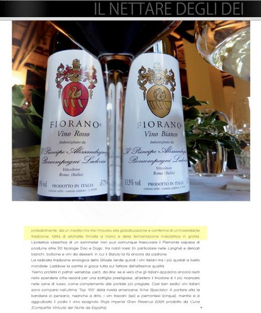 Tenuta di Fiorano Rassegna stampa 2014 - My Lifestyle Luxury Magazine