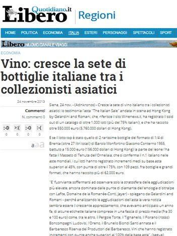 Tenuta di Fiorano, rassegna stampa 2013 - Libero