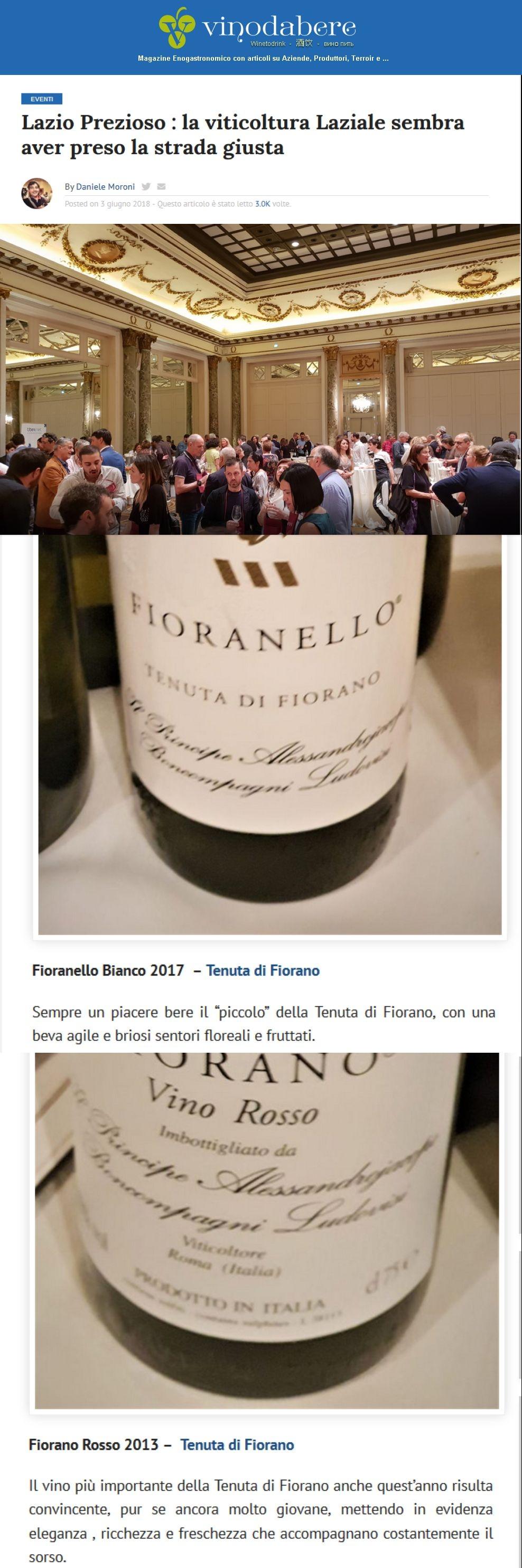 Lazio Prezioso: la viticultura Laziale sembra aver preso la strada giusta