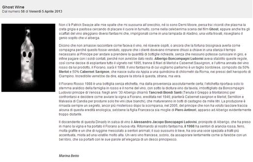 Tenuta di Fiorano Rassegna stampa 2013 - Bibenda