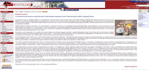 Tenuta di Fiorano Rassegna stampa 2013 - Carabinieri