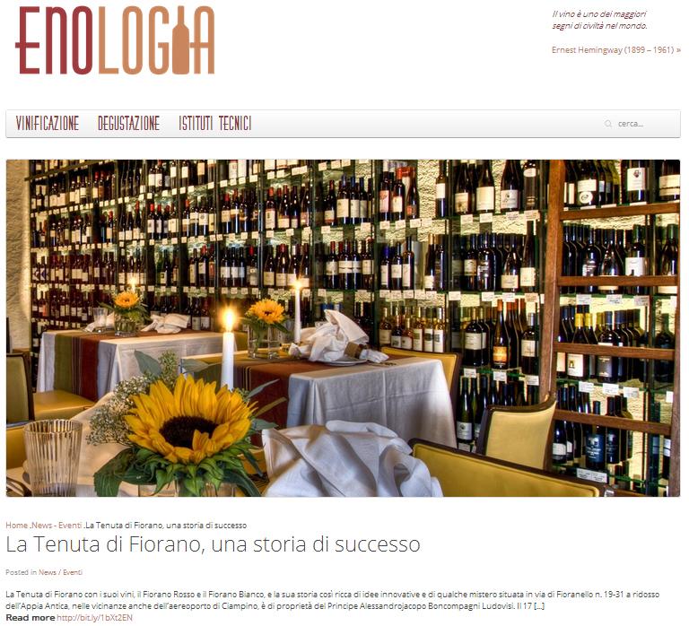 Tenuta di Fiorano Rassegna stampa 2013 - Enologia