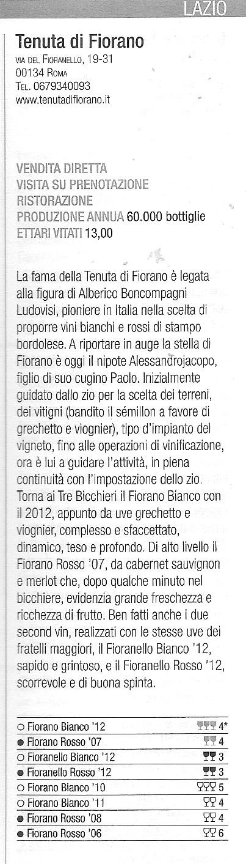 Tenuta di Fiorano Rassegna stampa 2015 - Gambero Rosso