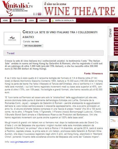 Tenuta di Fiorano, rassegna stampa 2013 - Vinitalia