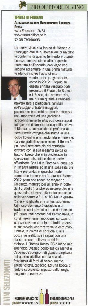 Tenuta di Fiorano Rassegna stampa 2014 - La Repubblica